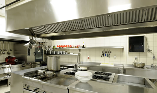 Commercial Kitchen Exhaust Vent Hood System Installation
